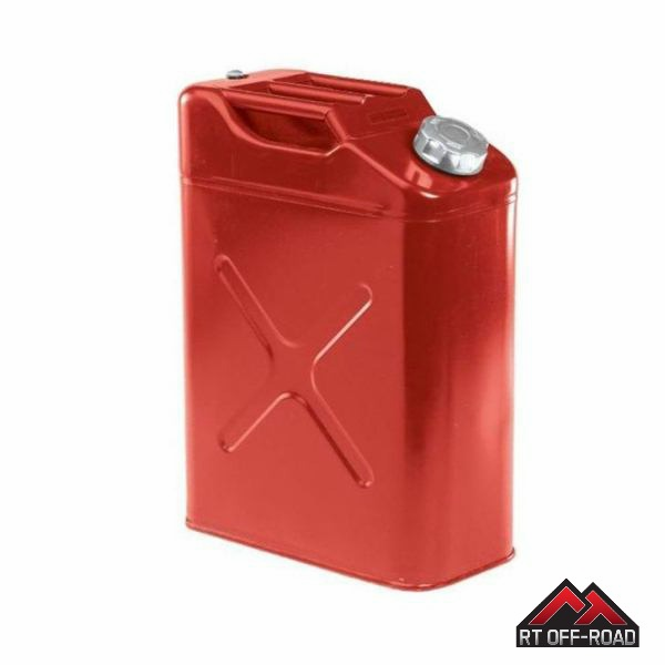 Crown [ RT11010R ] Red 5 Gallon Steel Jerry Can for Jeeps and other Off-Road Vehicles