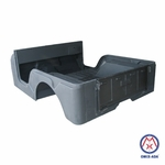 Replacement steel body tub, 1970-1971 Jeep CJ-5, no side gas fill, no cowl vent