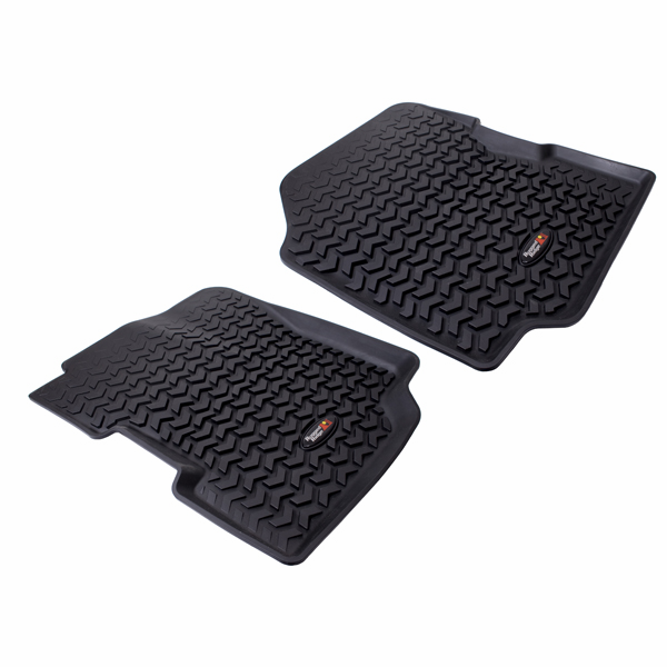 OMIX [ 1292021 ] All Terrain Floor Liner, Front Pair, Black, fits 1976-86 Jeep CJ-7, CJ-8 & 1987-95 Wrangler