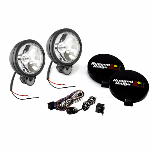 15207 51 rugged ridge halogen off road lights, 100w 6