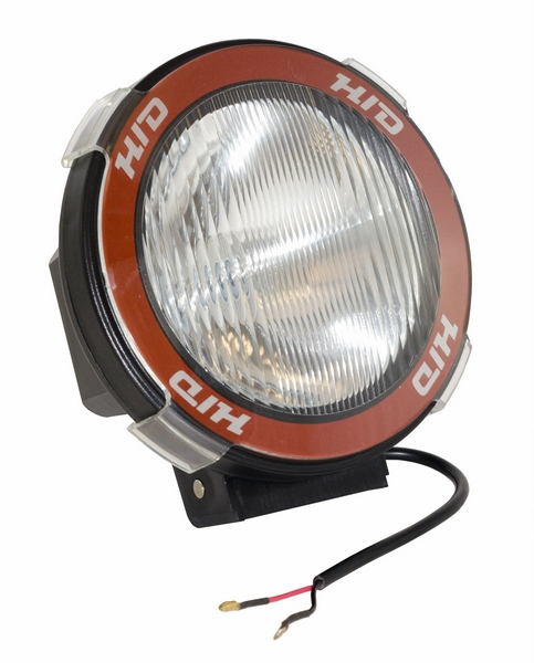 "OMIX [ 1520504 ] HID Off-Road fog light, 5"" round black, composite housing"