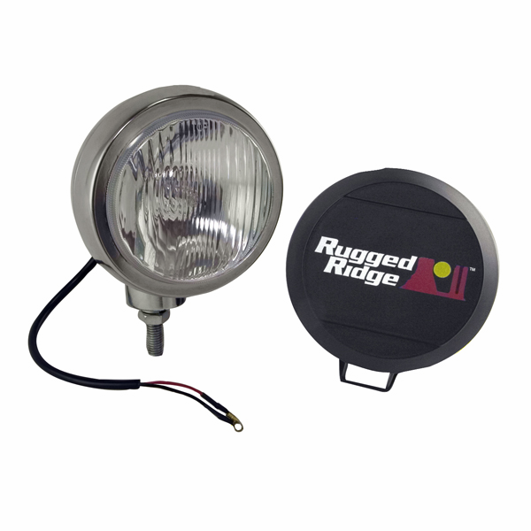 OMIX [ 1520602 ] HID Off-Road lights 5� round, single light, stainless