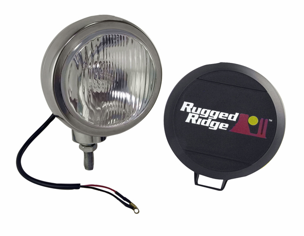 OMIX [ 1520601 ] HID Off-Road lights 6� round,single light, stainless