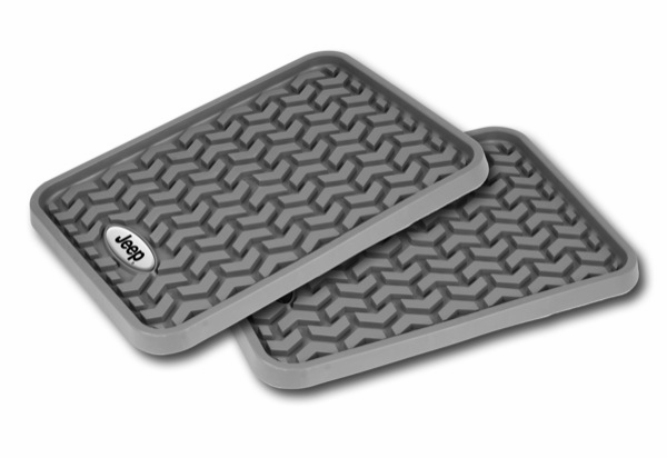 OMIX [ DMC-8495001 ] Rear Gray Floor Liner Pair With Jeep Logo, Universal Application