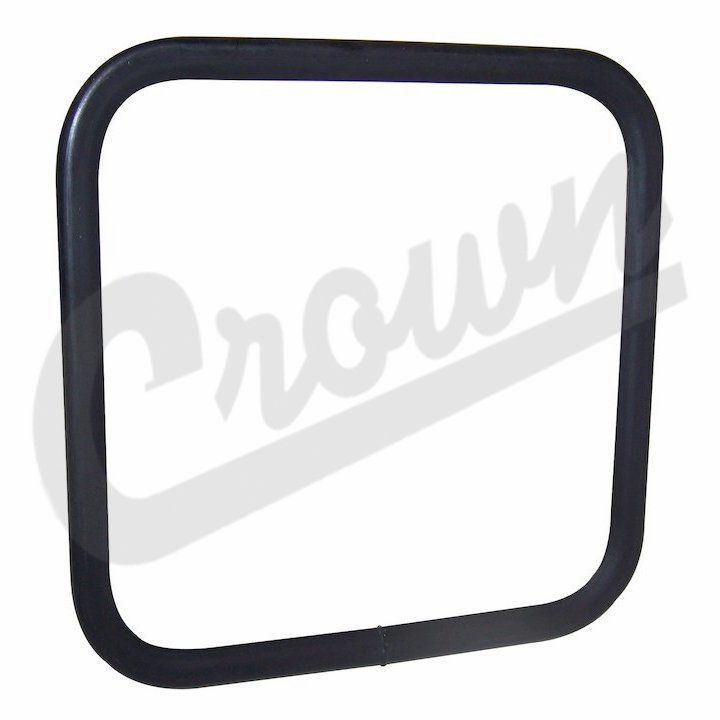 Square side mirror head, black, fits 1955-86 Jeep CJ-5, CJ-7 & CJ-8 Scrambler