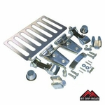 Stainless Steel Complete Hood Dress Up Kit, fits 2007-2015 Jeep Wrangler JK by RT Off-Road