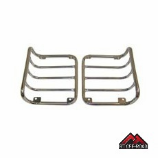 Stainless Steel Euro Tail Light Guards, 2007-2015 Jeep Wrangler JK by RT Off-Road