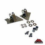 Stainless Steel Mirror Relocation Brackets, 2003-2006 Jeep Wrangler TJ by RT Off-Road