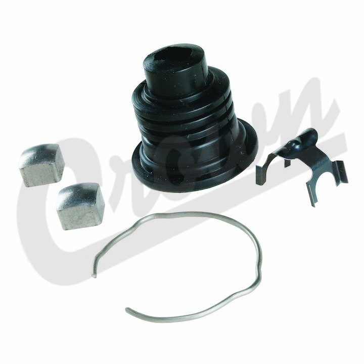 Crown [ 8132676K ] Steering Shaft Lower Boot Kit, includes boot, clips and bearings, fits 1976-86 Jeep CJ