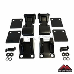 TJ Style Black Powder Coated Stainless Steel Hood Catch Kit, 1976-1995 Jeep CJ & Wrangler YJ by RT Off-Road