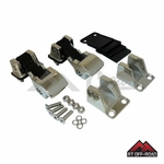 TJ Style Polished Stainless Steel Hood Catch Kit, 1976-1995 Jeep CJ & Wrangler YJ by RT Off-Road