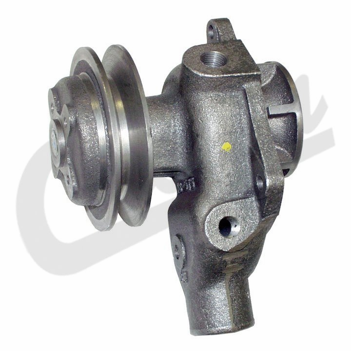 Crown [ J8126774 ] Water pump with pulley, fits 1945-71 Willys Jeep CJ-3A, CJ-3B, CJ-5, CJ-6 with 4 cyl. Engines