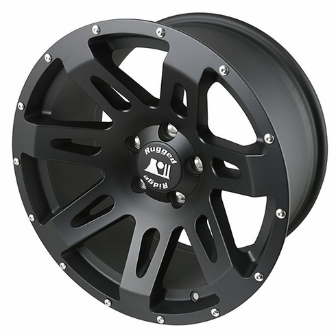 XHD Wheel, 18x9, 5x5, Black Satin by Rugged Ridge