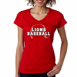 Finksburg Lions Baseball Ladies' V-Neck
