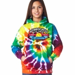 Rainbow Tie Dye WJGSL Hooded Sweatshirt