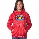 Red Tie Dye WJGSL Hooded Sweatshirt