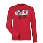 Spring Garden Elementary Red Moisture Wicking Long Sleeve