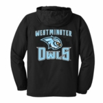 Westminster Owls Black Windbreaker Hoodie