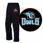 Westminster Owls Black Open Bottom Sweatpants