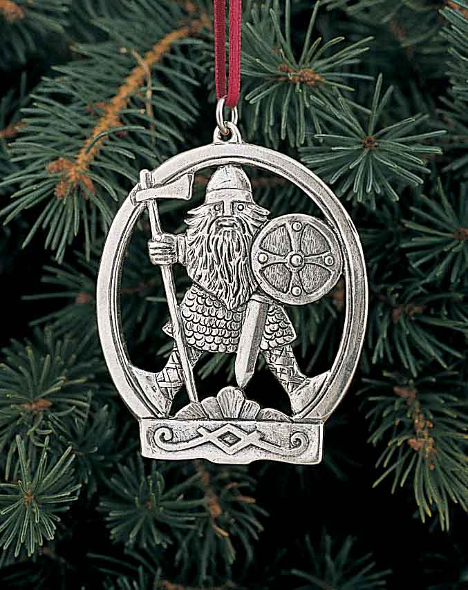 norwegian pewter ornament viking warrior - Viking Christmas