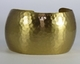 Charles Albert Alchemia Hammered Bubble Cuff Brushed Gold Bracelet