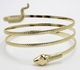 Alura Collection Gold Snake Arm Coil Bracelet