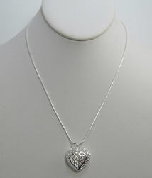 Alura  Silver Collection Open Heart Chain Necklace