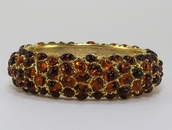 Kenneth Jay Lane Smoky Topaz Bangle Bracelet