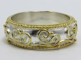 MICHOU Timeless Scrolls Collection Ring