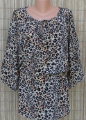 Tolani Tunic Eva Leopard Silk Top