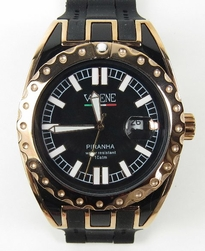 VaBene Mondo Watch Black Piranha Gold