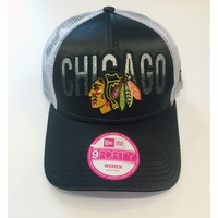Blackhawks Women's Shine Glitter Trucker Cap