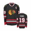 Blackhawks #19 Toews Premier Jersey - Black