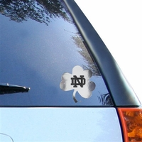 Notre Dame Clover Decal
