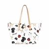 White Sox Dooney & Bourke Top Zip Shopper - Novelty White