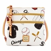 White Sox Dooney & Bourke Triple Zip Crossbody - Novelty White