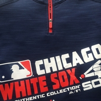 White Sox Women's AC Team Choice 1/4 Zip  Pullover - Navy