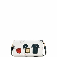 White Sox Dooney & Bourke Daphne Crossbody Wallet - Novelty White