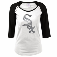 White Sox Women's Studded 3/4 Raglan