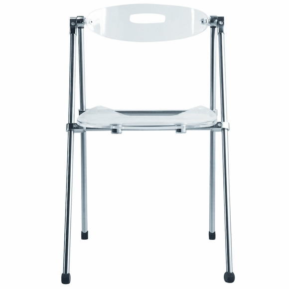Acrylic Folding Dining Chair, Clear
