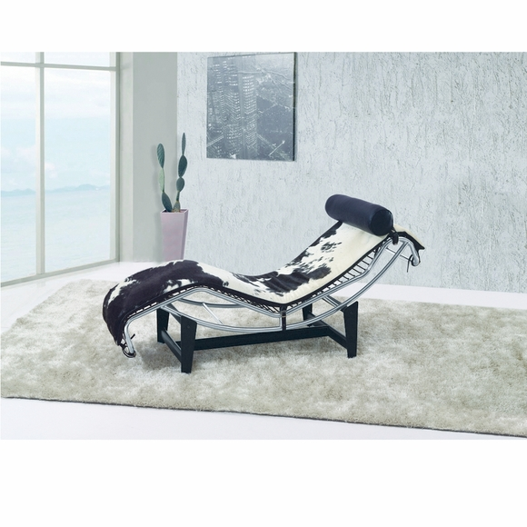 Adjustable Chaise In Pony And White Modern In Designs