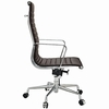 AG Ribbed High Back Office Chair Brown