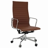 AG Ribbed High Back Office Chair Terracotta
