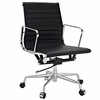 AG Ribbed Mid Back Office Chair Black