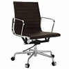 AG Ribbed Mid Back Office Chair Brown