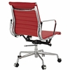 AG Ribbed Mid Back Office Chair Red