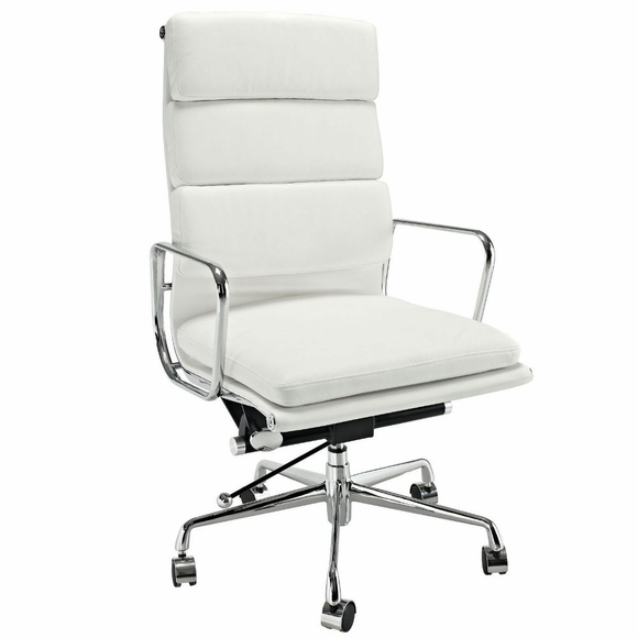 AG Soft Padded High Back Office Chair White