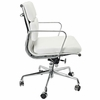 AG Soft Padded Mid Back Office Chair White
