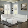 Align 4 Piece Bonded Leather Sectional Sofa Set
