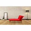 Ash Linen Lounge Chair, Red